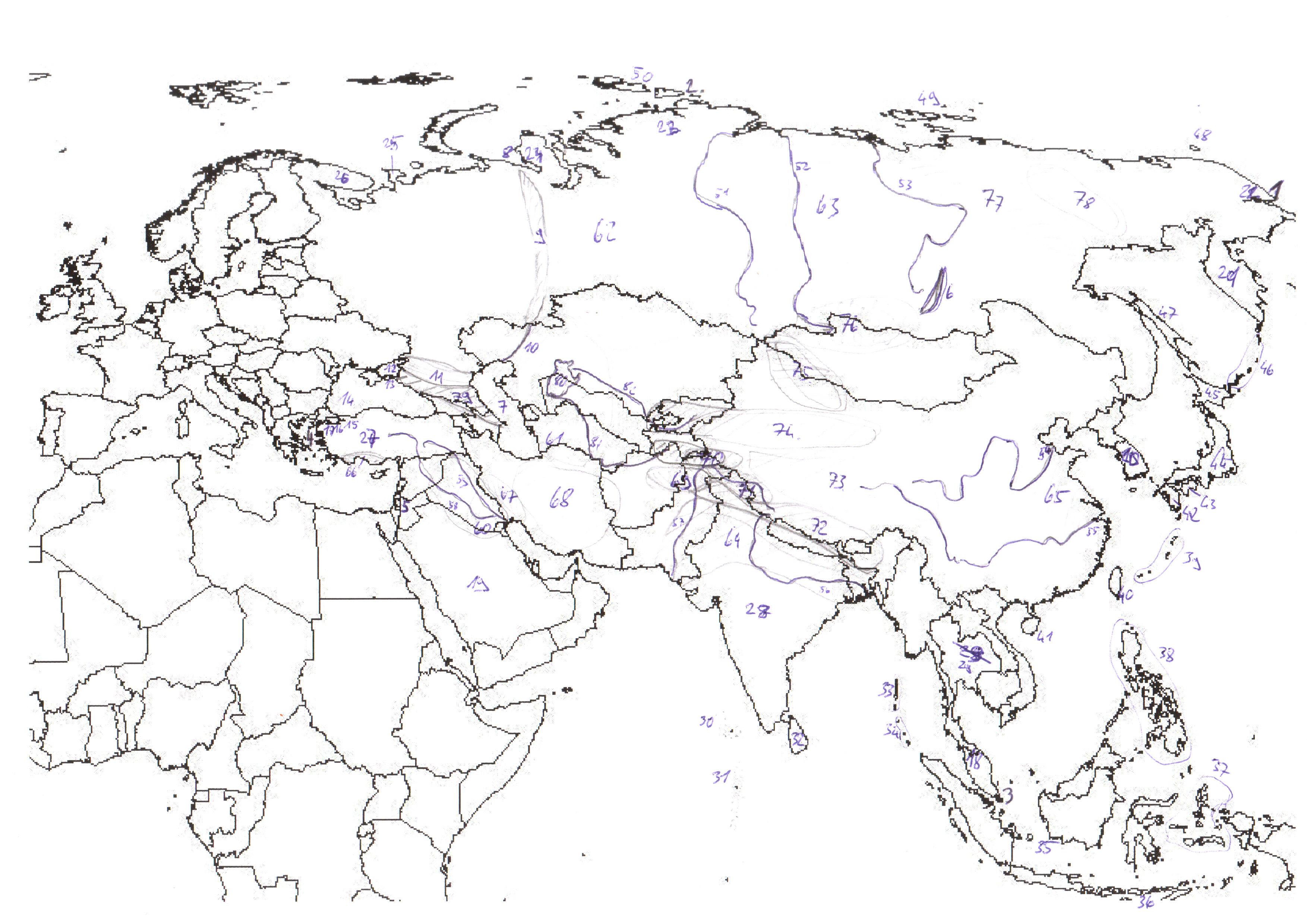 evropa vodstvo slepa mapa